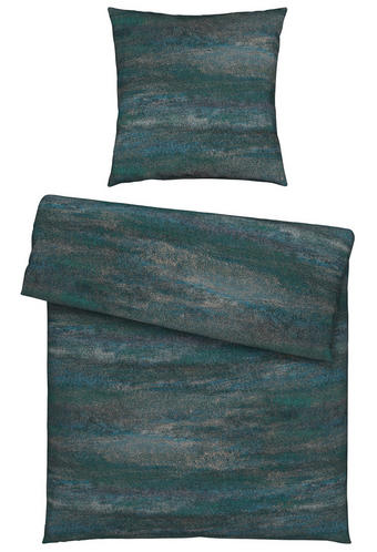 BETTWÄSCHE Jersey Blau, Petrol 135/200 cm - Blau/Petrol, Design, Textil (135/200cm) - Novel