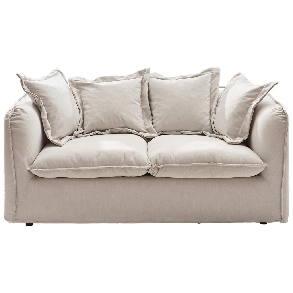 Swell Ambia Home Zweisitzer Sofa Webstoff Beige Bralicious Painted Fabric Chair Ideas Braliciousco