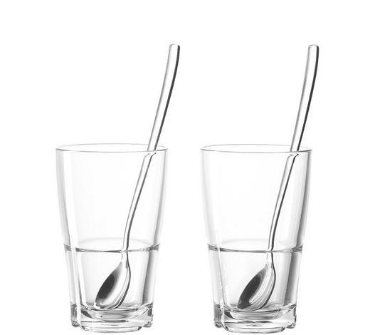 GLÄSERSET - Edelstahlfarben/Transparent, Basics, Glas/Metall (8,30/13,40/8,30cm) - Leonardo
