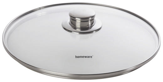 DECKEL  24 cm - Klar, Basics, Glas/Metall (24cm) - Homeware