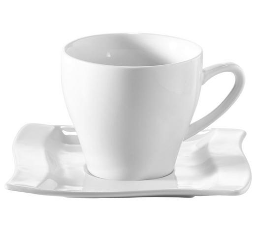 ŠÁLEK NA KÁVU S PODŠÁLKEM, porcelán - bílá, Konvenční, keramika - Novel