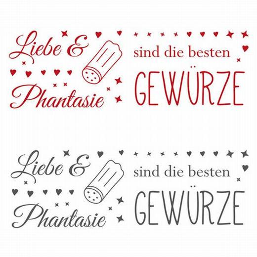 Textmotive DEKOSTICKER - Rot/Schwarz, Basics, Kunststoff - EUROGRAPHICS