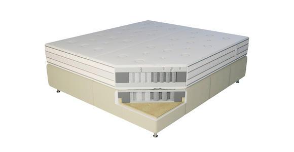 BOXSPRINGBETT 180/220 cm  in Beige  - Beige/Alufarben, KONVENTIONELL, Textil/Metall (180/220cm) - Dieter Knoll
