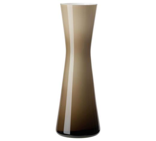 VASE 18 cm - Beige/Weiß, Design, Glas (18cm) - Leonardo