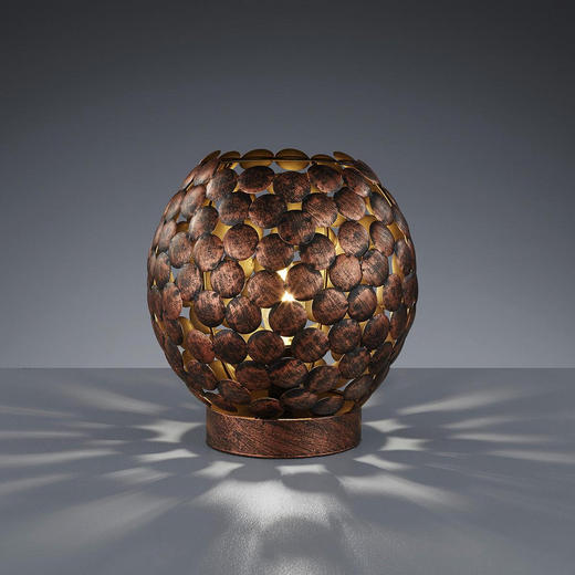 TISCHLEUCHTE - Kupferfarben, MODERN, Metall (22/24cm)