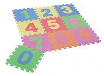 BODENPUZZLE   Blau, Gelb, Grün, Orange, Pink, Rosa, Rot - Blau/Pink, Basics, Kunststoff (90/90/1cm) - BOXXX
