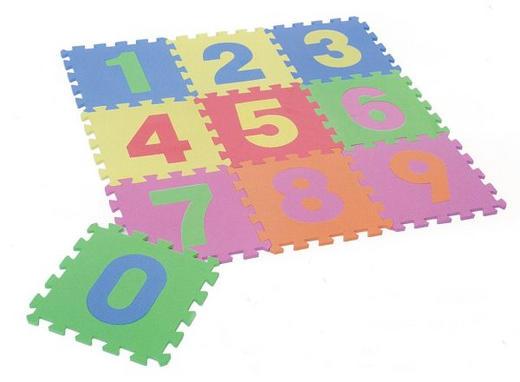 BODENPUZZLE   Blau, Gelb, Grün, Orange, Pink, Rosa, Rot - Blau/Pink, Basics, Kunststoff (90/90/1cm)