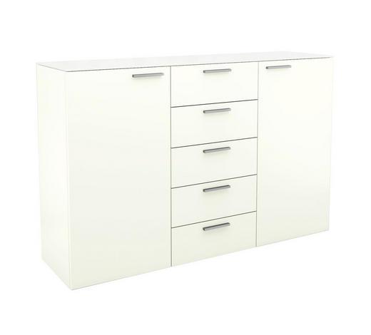 KOMMODE 150/96,9/40,1 cm - Chromfarben/Weiß, Design, Glas/Holzwerkstoff (150/96,9/40,1cm) - Hülsta