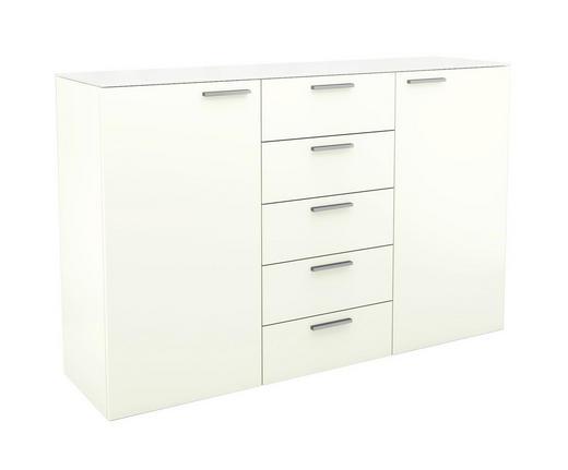 KOMMODE Weiß - Chromfarben/Weiß, Design, Glas (150/96,9/40,1cm) - Hülsta