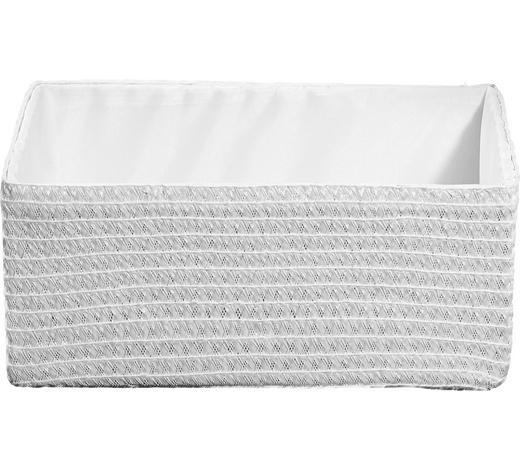 REGALKORB 36/26/16 cm  - Weiß, Basics, Kunststoff/Textil (36/26/16cm) - Landscape
