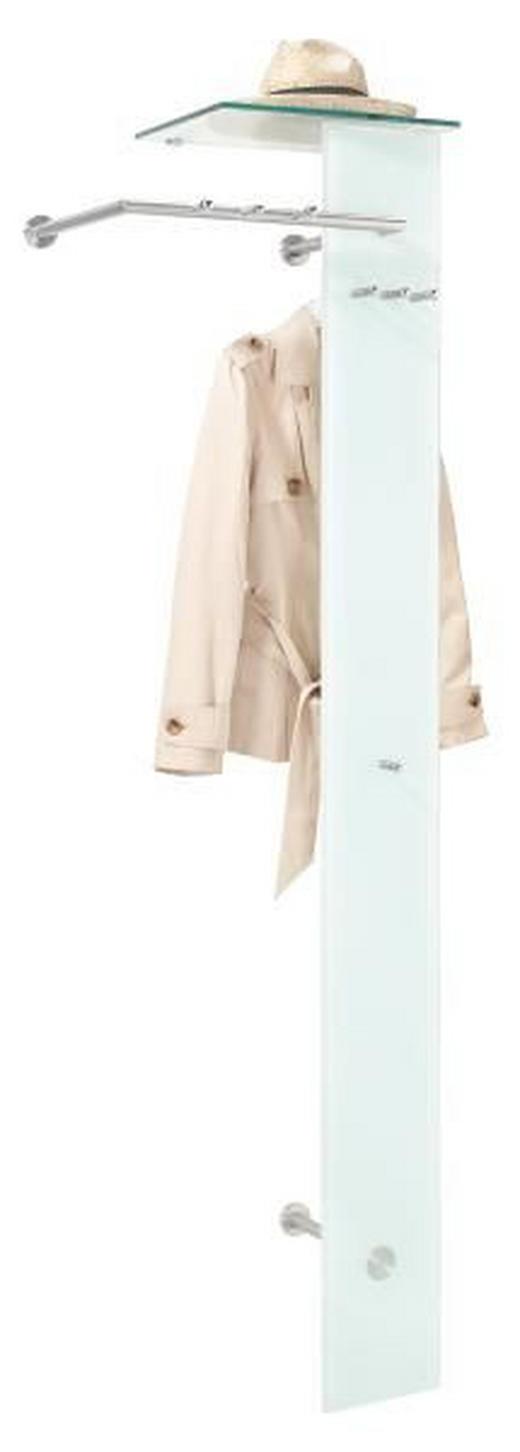 NÁSTĚNNÁ ŠATNA - bílá/barvy nerez oceli, Design, kov/sklo (55/190/38cm) - CARRYHOME