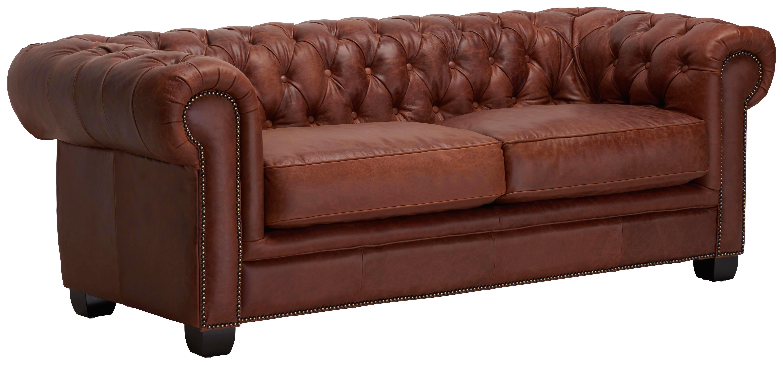 Chesterfield Sofa In Holz Leder Braun