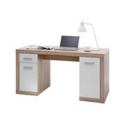 PSACÍ STŮL - barvy stříbra/barvy dubu, Konvenční, kompozitní dřevo/umělá hmota (145/76/65cm)