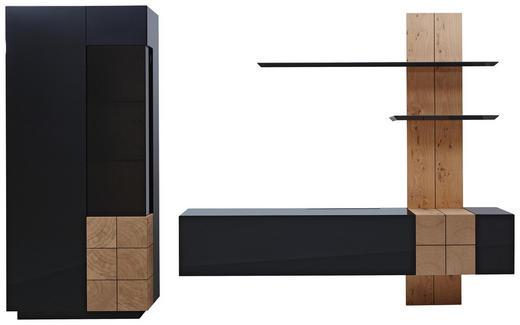 WOHNWAND in Eichefarben, Dunkelgrau - Eichefarben/Dunkelgrau, Design, Holz/Holzwerkstoff (325/190/52cm) - Ambiente