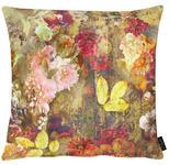 KISSENHÜLLE Multicolor, Dunkelrot, Dunkelgelb  - Multicolor/Dunkelgelb, Natur, Textil (49x49cm) - Landscape
