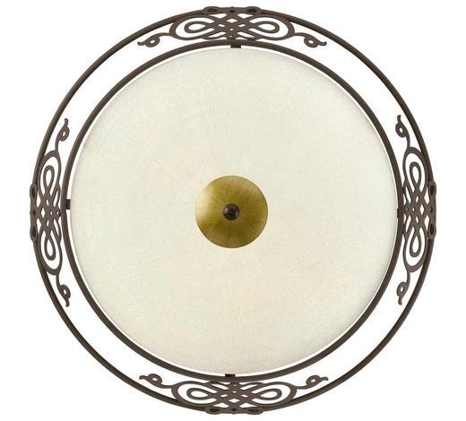DECKENLEUCHTE - Beige/Goldfarben, LIFESTYLE, Glas/Metall (39,5/13,3cm)