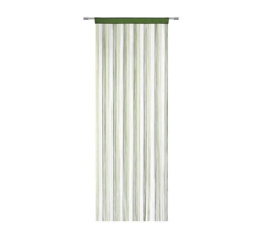ZÁCLONA PROVÁZKOVÁ, 90/245 cm, přírodní barvy, tmavě zelená, světle zelená - světle zelená/přírodní barvy, Basics, textil (90/245cm) - Boxxx