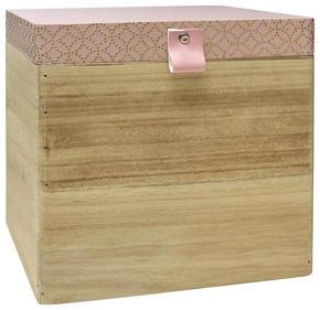 DEKORATIONSLÅDA - rosa, Trend, träbaserade material (24/24/24cm) - Ambia Home