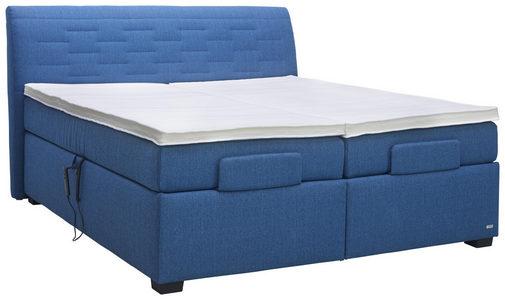 BOXSPRING KREVET - Plava, Konvencionalno, Tekstil (180/200cm) - Bentley