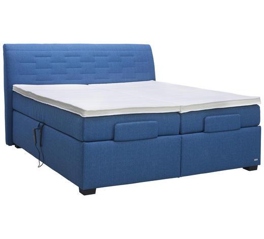 BOXSPRINGBETT 180/200 cm  in Blau  - Blau, KONVENTIONELL, Textil (180/200cm) - Bentley
