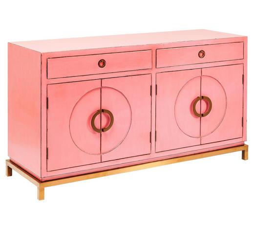 SIDEBOARD 150/84/50 cm - Pink/Edelstahlfarben, Trend, Holz/Metall (150/84/50cm)