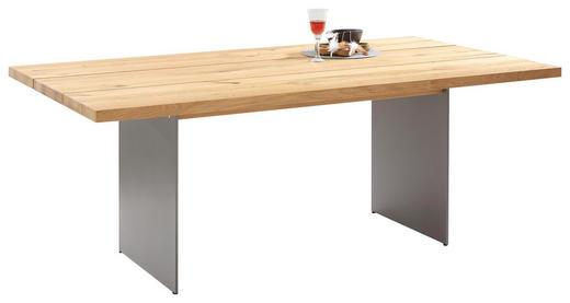 ESSTISCH Eiche furniert Alufarben, Eichefarben - Eichefarben/Alufarben, Design, Holz/Metall (200/110/75cm) - Venjakob