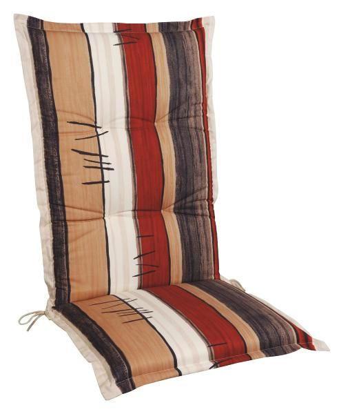 SESSELAUFLAGE Streifen - Anthrazit/Beige, KONVENTIONELL, Textil (50/9/120cm)