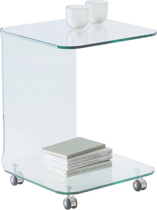 BEISTELLTISCH Klar - Klar, Design, Glas/Kunststoff (45/60/45cm)
