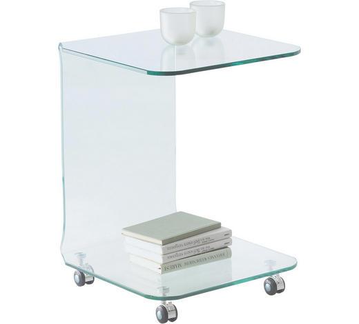 BEISTELLTISCH quadratisch Klar - Klar, Design, Glas/Kunststoff (45/60/45cm)