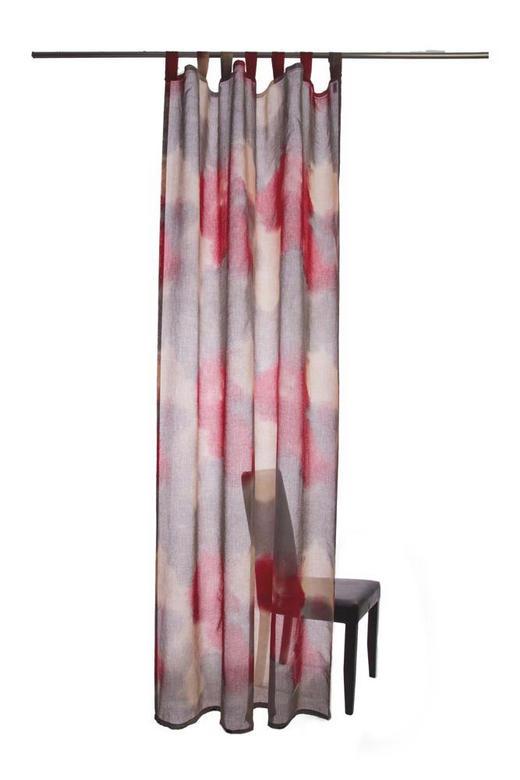 SCHLAUFENSCHAL  transparent  145/255 cm - Rot/Grau, Design, Textil (145/255cm)
