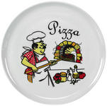 PIZZATELLER 30 cm  - Gelb/Rot, Basics, Keramik (30cm) - Homeware