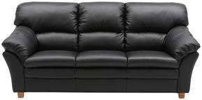 SOFFA - svart/ekfärgad, Modern, läder/trä (213/100/92cm) - Hjort Knudsen