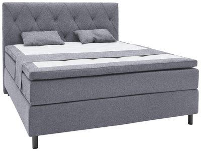 KONTINENTALSÄNG - alufärgad/grå, Design, metall/träbaserade material (160/200cm) - Elegando