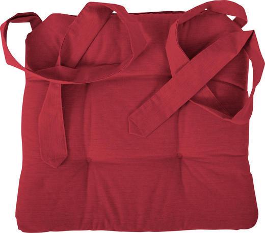 STUHLKISSEN Rot 42/46/7 cm - Rot, Textil (42/46/7cm) - NOVEL
