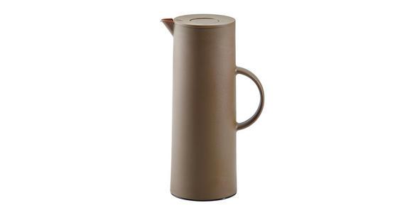 ISOLIERKANNE 1 L  - Braun, Design, Glas/Kunststoff (1l) - Homeware