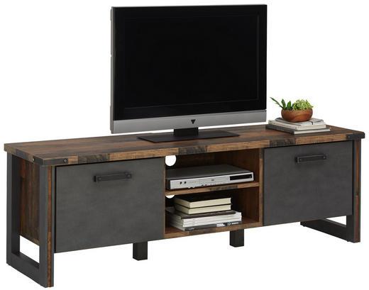 TV-ELEMENT - Anthrazit/Grau, KONVENTIONELL, Holzwerkstoff/Kunststoff (168 52 42cm) - Hom`in
