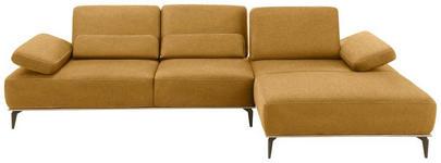 WOHNLANDSCHAFT Hellbraun Mikrofaser  - Hellbraun/Beige, Design, Textil/Metall (298/178cm) - Valnatura