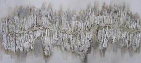 OLJEMÅLNING - silver, Basics, trä/textil (60/120cm) - Monee