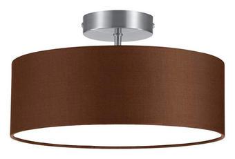 DECKENLEUCHTE - Braun/Nickelfarben, Design, Textil/Metall (30/16cm)
