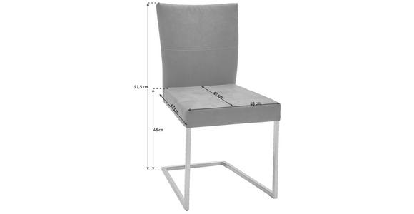 SCHWINGSTUHL Mikrofaser Braun, Edelstahlfarben - Edelstahlfarben/Braun, Design, Textil/Metall (48/91,5/67cm) - Dieter Knoll