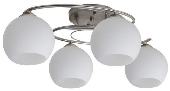 PLAFONJERA - Bela/Boja nerđajućeg čelika, Konvencionalno, Metal/Staklo (47/47/14cm) - Boxxx