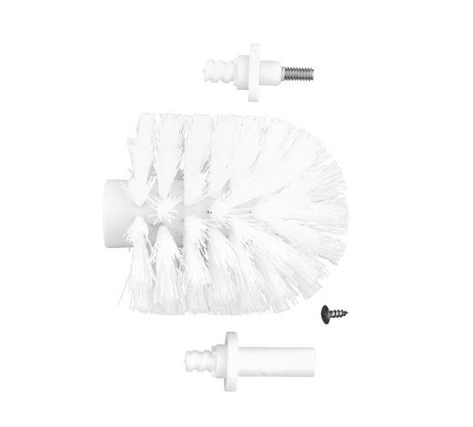 ERSATZBÜRSTENKOPF in - Weiß, Basics, Kunststoff (8,5cm) - Sadena