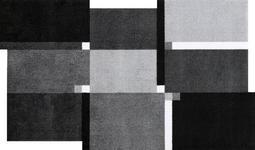 FUßMATTE 70/120 cm Graphik Grau, Schwarz, Weiß - Schwarz/Weiß, Basics, Kunststoff/Textil (70/120cm) - Esposa
