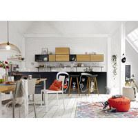 HÄNGESCHRANK - Schieferfarben/Eichefarben, Design, Holz/Holzwerkstoff (75/37,5/39,2cm) - Hülsta - Now