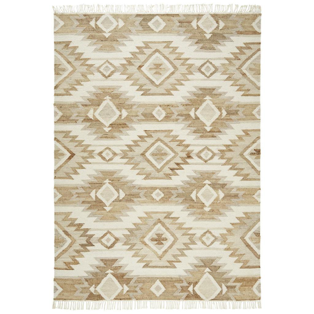 Linea Natura Handwebteppich , Beige , Textil , Abstraktes , rechteckig , 130 cm , beidseitig verwendbar, pflegeleicht, leicht zusammenrollbar , Teppiche & Böden, Teppiche, Naturteppiche