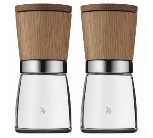 Gewürzmühlenset 2-teilig - Braun, Design, Glas/Holz (6/13,8cm) - WMF
