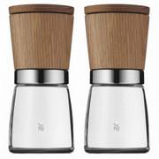 Gewürzmühlenset 2-teilig - Braun, Design, Holz/Keramik (13,8cm) - WMF