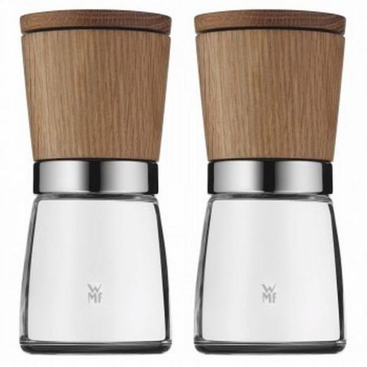 Gewürzmühlenset 2-teilig - Braun, Design, Holz/Keramik (13,8//cm) - WMF
