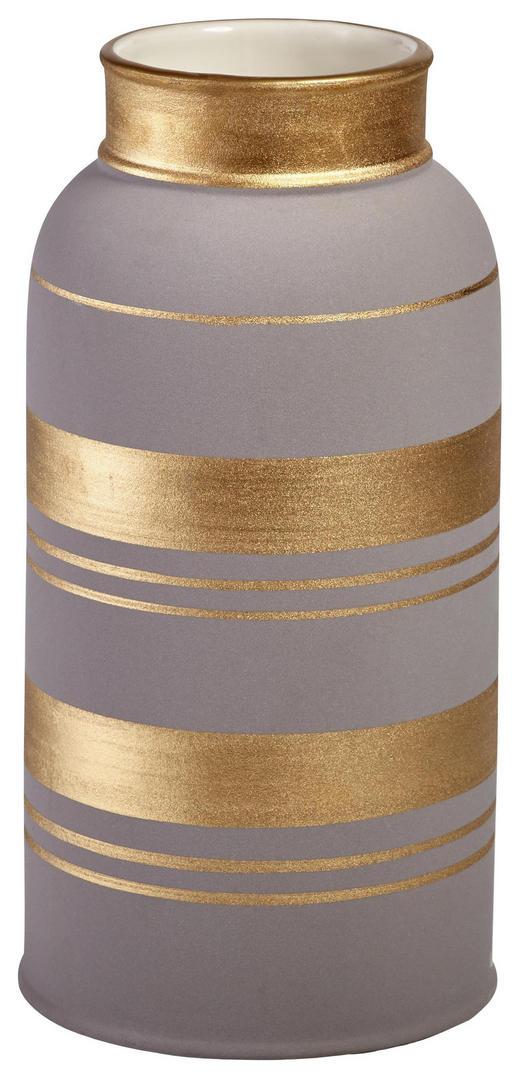 VASE 28,5 cm - Goldfarben/Grau, Keramik (28,5cm) - Ambia Home