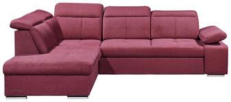 WOHNLANDSCHAFT in Textil Rot  - Silberfarben/Rot, MODERN, Kunststoff/Textil (217/275cm) - Carryhome